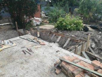 летночный фундамент под стенку
